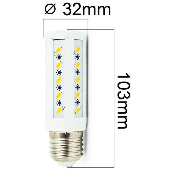 LED žárovka E27 8W 720lm teplá ,  ekvivalent 61W