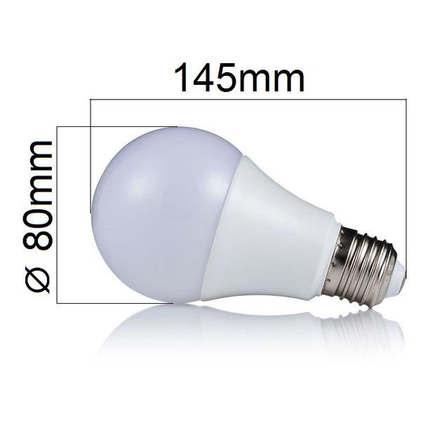 LED žárovka E27 18W 1620lm denní,  ekvivalent 110W