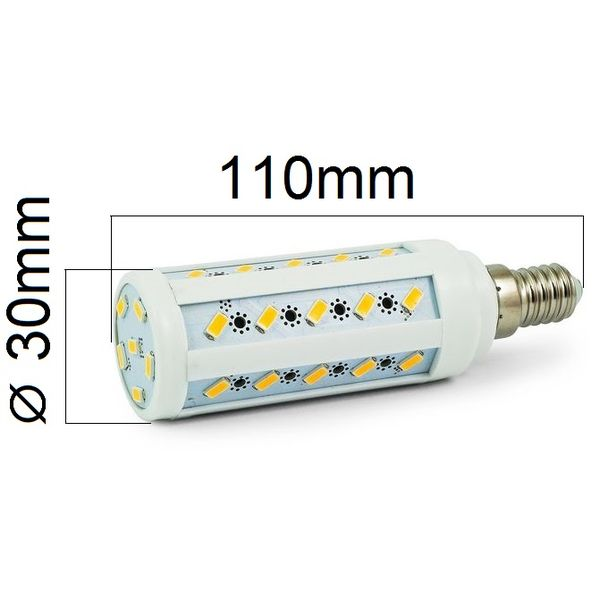 LED žárovka E14 8W 720lm studená,  ekvivalent 61W