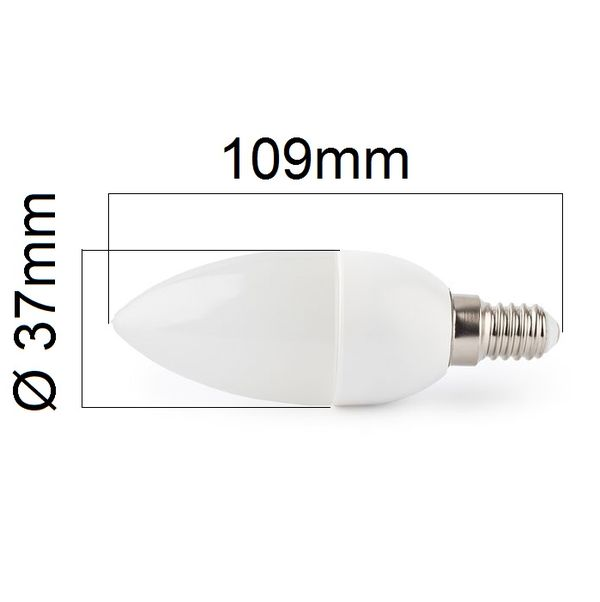 LED žárovka E14 4W 400lm teplá, ekvivalent 40W