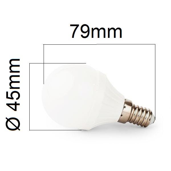 LED žárovka E14 4W 400lm G45 teplá, ekvivalent 40W