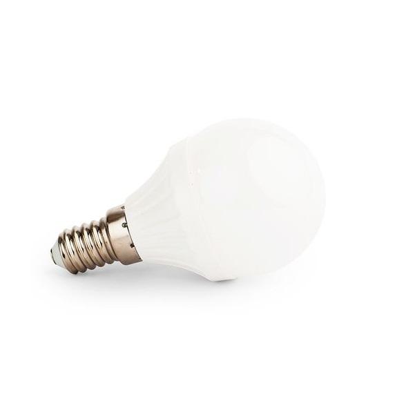 LED žárovka E14 6W 540lm G45 studená, ekvivalent 50W