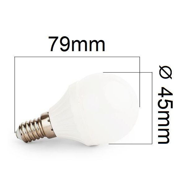 Stmívatelná LED žárovka E14 8W 720lm G45 teplá,  ekvivalent 61W