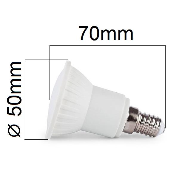 LED žárovka E14 6W 540lm JDR teplá, ekvivalent 50W