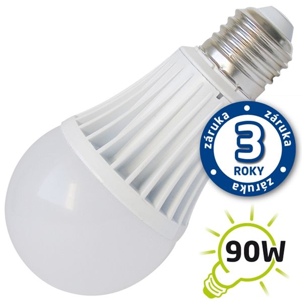 LED žárovka E27 15W 1200lm teplá , ekvivalent 90W