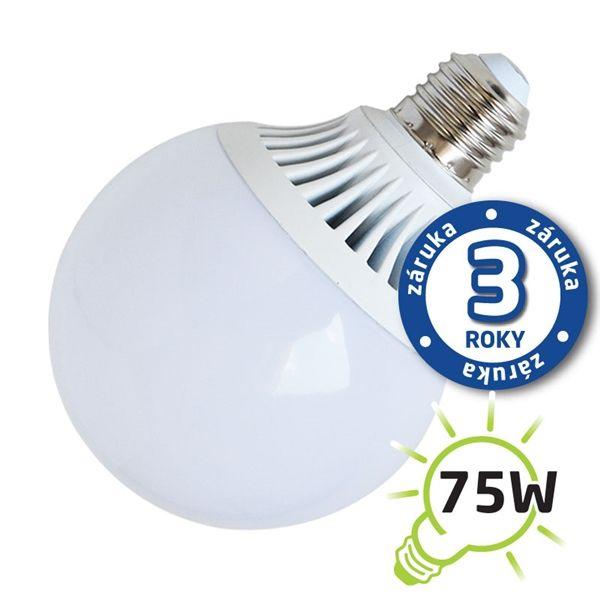 LED žárovka E27 12W 960lm G95 teplá, ekvivalent 75W