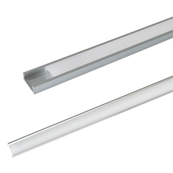 Hliníkový  profil pro 8mm a 10mm LED pásky 1m mléčný kryt