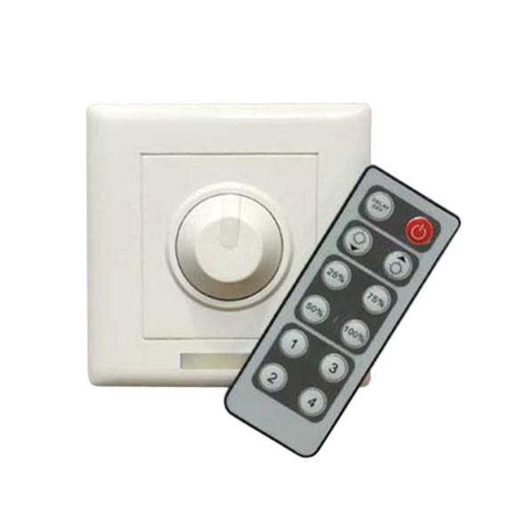 Nástěnný stmívač s ovladačem pro jednobarevné LED pásky