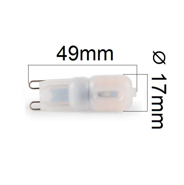 Stmívatelná LED žárovka G9 3W 270lm teplá, ekvivalent 28W