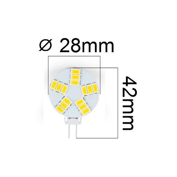 LED žárovka G4 4W 360lm 12V teplá,  ekvivalent  35W