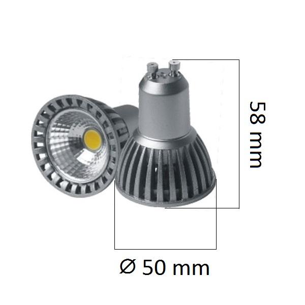 LED žárovka  GU10 4W 240lm, studená, ekvivalent 24W