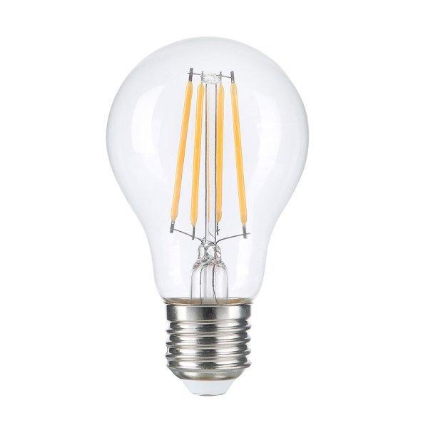 Stmívatelná retro LED žárovka E27 8W 810lm teplá, filament, ekvivalent 54W