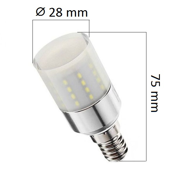 LED žárovka  E14 5W 400lm, studená, ekvivalent 32W