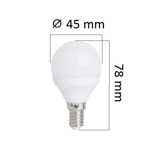 LED žárovka  E14 4W 320lm G45 teplá,  ekvivalent 30W