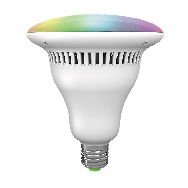 Inteligentní RGB LED žárovka 11W 1000lm s bluetooth a reproduktorem