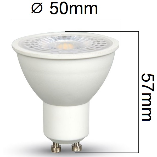 LED žárovka GU10 7W 500lm teplá, ekvivalent 45W