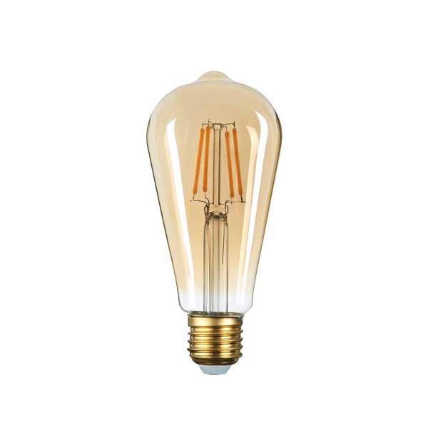 Retro LED žárovka E27 4W 400lm extra teplá, filament,  ekvivalent 27W