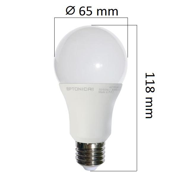 LED  žárovka E27 12W 960lm, studená, ekvivalent 75W