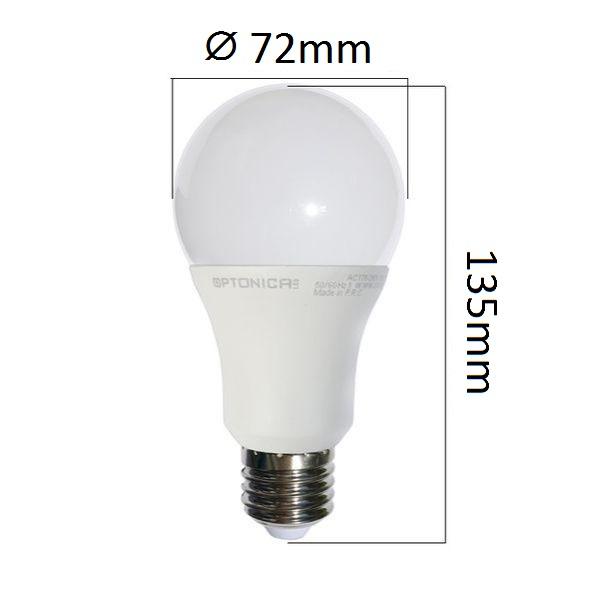 LED  žárovka E27 18W 1440lm teplá, ekvivalent 100W