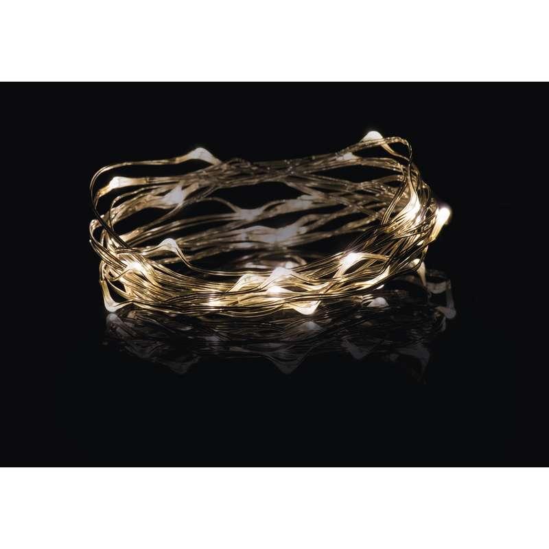 LED vánoční řetěz 2,4W jantarové světlo, 4m, voděodolný, časovač