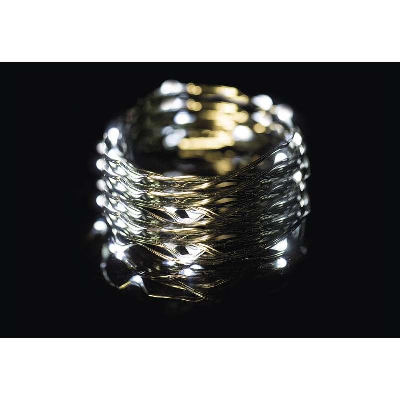 LED vánoční řetěz 3,6W studené světlo, 15m, voděodolný, časovač
