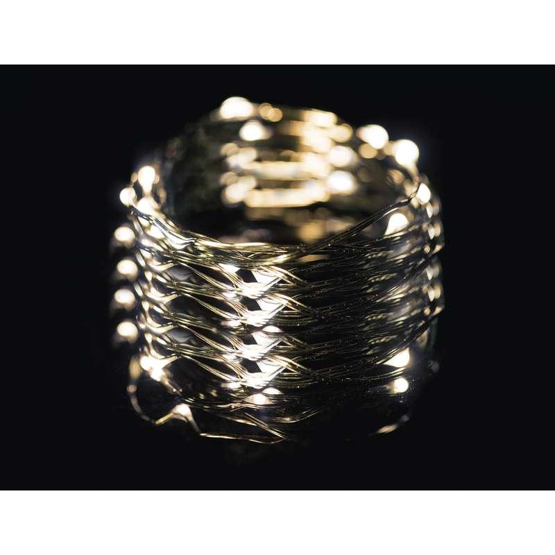 LED vánoční řetěz 3,6W jantarové světlo, 15m, voděodolný, časovač