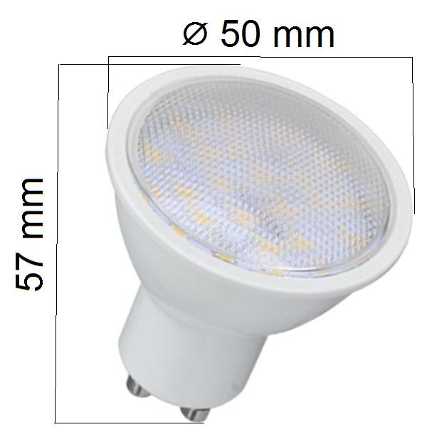 LED žárovka  GU10 5W 350lm, studená, ekvivalent 40W