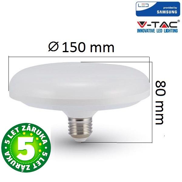 Prémiová LED žárovka E27 UFO SAMSUNG čipy 15W 1200lm, denní, 5 let