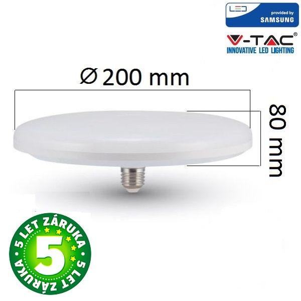 Prémiová LED žárovka E27 UFO SAMSUNG čipy 24W 1900lm teplá, 5 let