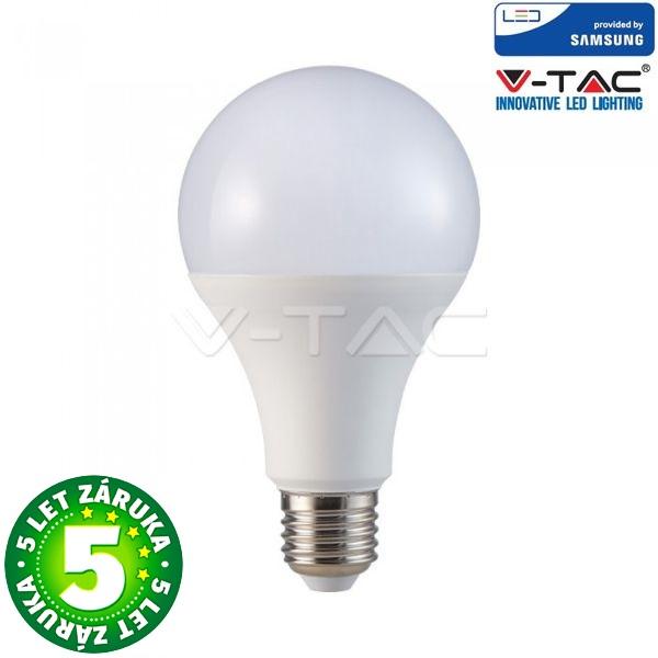 Prémiová LED žárovka E27 SAMSUNG čipy 20W 2452lm teplá, 5 let