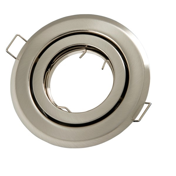 Podhledové bodové svítidlo výklopné  chrom matný + PATICE MR16 ZDARMA