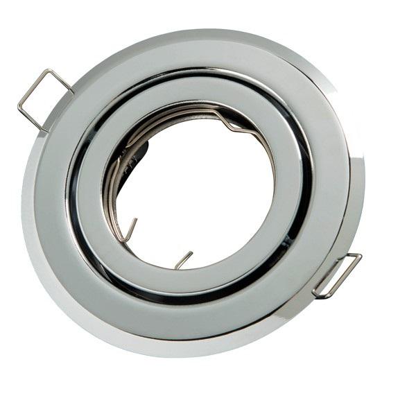 Podhledové bodové svítidlo výklopné  chrom lesklý + PATICE MR16 ZDARMA