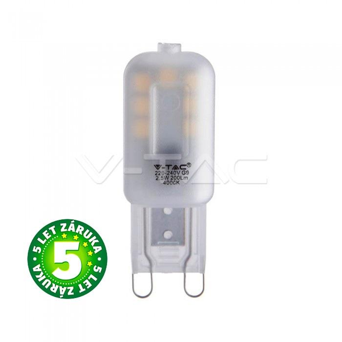 Prémiová LED žárovka G9 SAMSUNG čipy 2,5W 200lm teplá