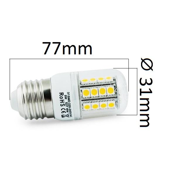 LED žárovka E27 5W 350lm teplá, ekvivalent 40W