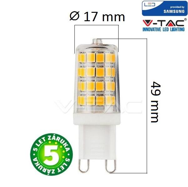 Prémiová LED žárovka G9 SAMSUNG čipy 3W 300lm teplá