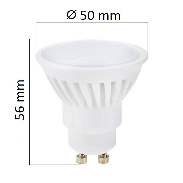 LED žárovka GU10 10W 1000lm teplá, ekvivalent 75W