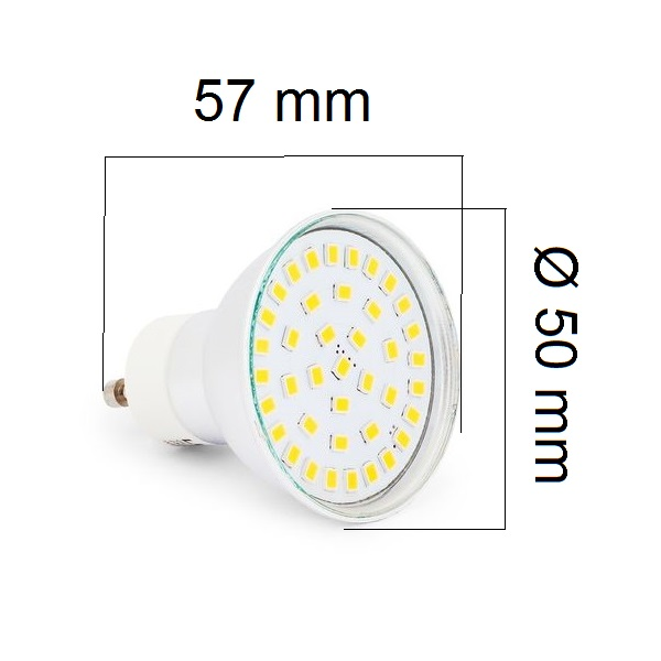 LED žárovka GU10 5W 450lm teplá,  ekvivalent 40W