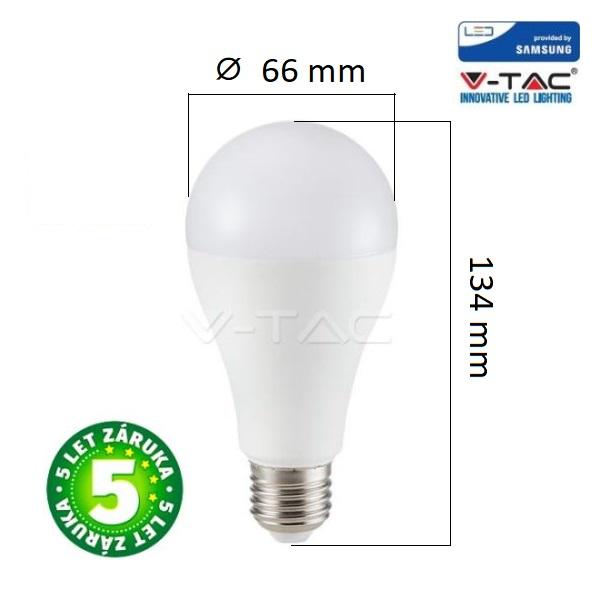 Prémiová LED žárovka E27 SAMSUNG čipy 12W 1521lm teplá, 5 let