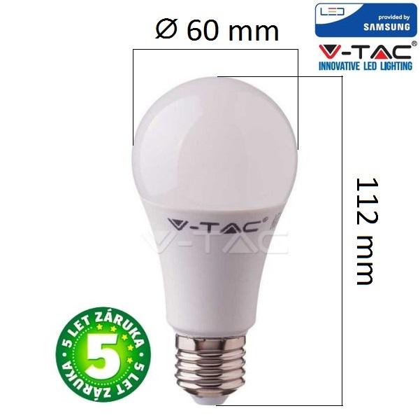 Prémiová LED žárovka E27 SAMSUNG čipy 8,5W 1055lm teplá