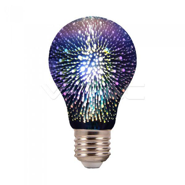 Dekorační LED žárovka E27 3W 20lm s 3D efektem