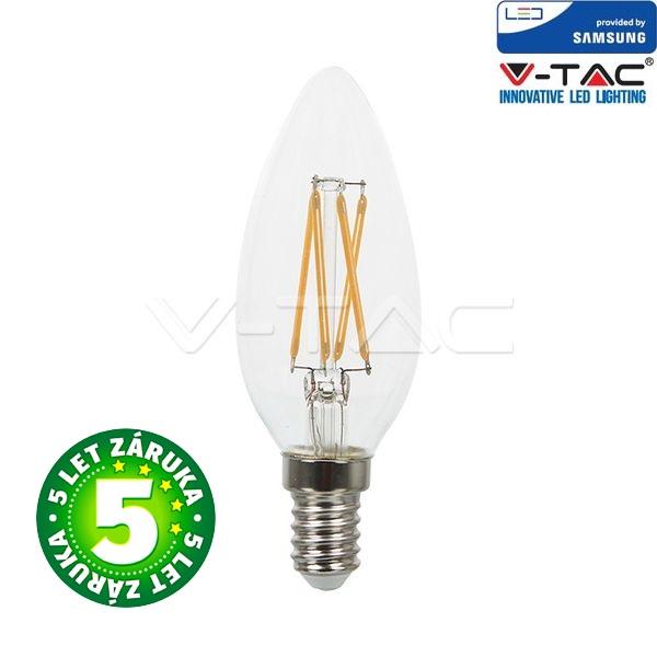 Prémiová  retro LED žárovka E14 SAMSUNG čipy 4W 400lm teplá, filament, 5 let