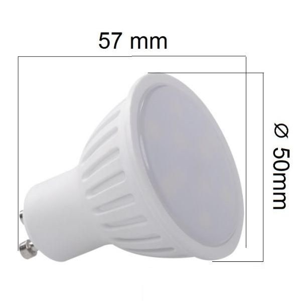 LED žárovka GU10 6W 440lm, denní, ekvivalent  40W