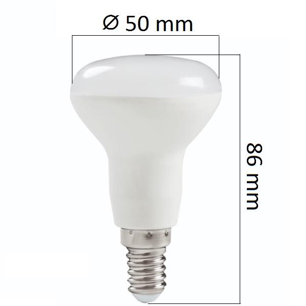 LED žárovka E14 5W 400lm R50,  denní, ekvivalent  40W