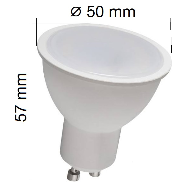 LED žárovka GU10 8W 580lm, studená, ekvivalent 55W