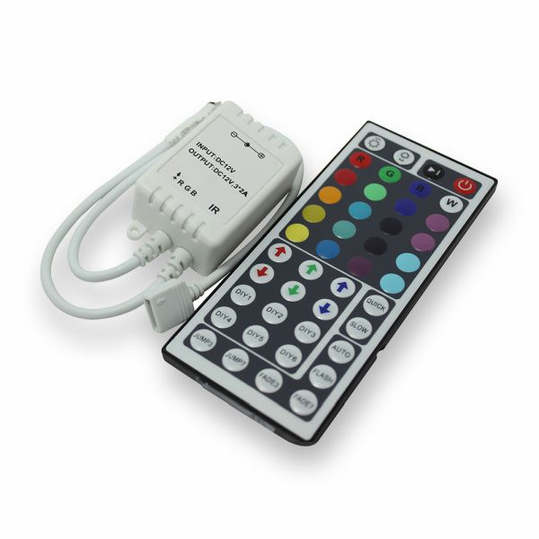 Ovladač RGB pásku s dálkovým ovládáním,  44 tlačítek