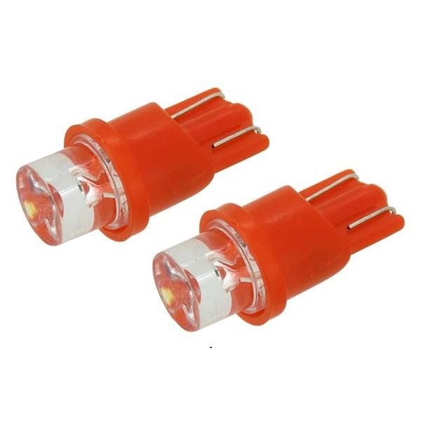 Led autožárovka 1LED 12V T10 červená 2ks