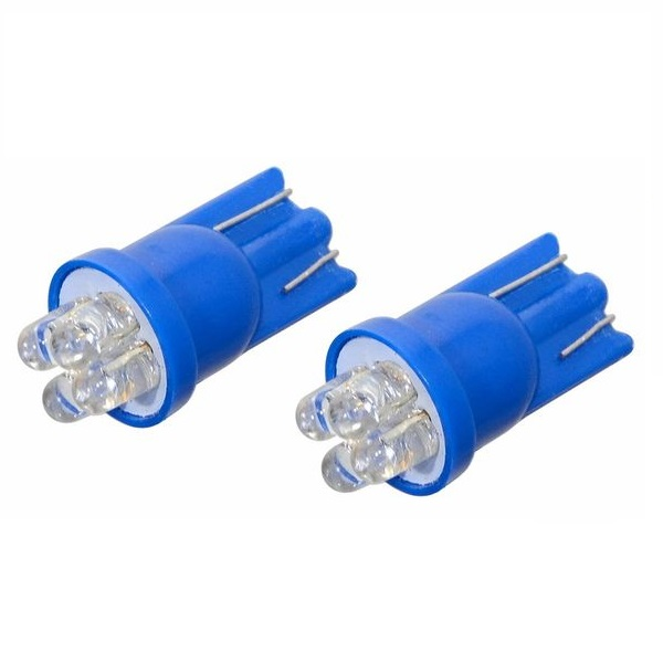 Led autožárovka 4LED 12V T10 modrá 2ks