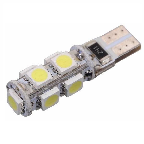 Led autožárovka 9 SMD LED 12V T10 s rezistorem CAN-BUS ready bílá