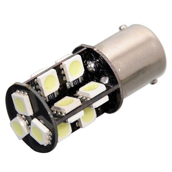Led autožárovka 19 SMD LED 12V Ba15S s rezistorem CAN-BUS ready bílá