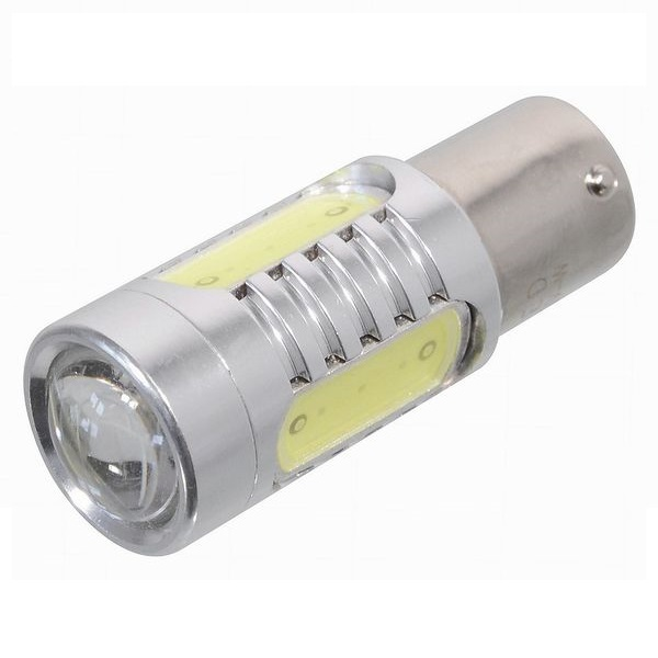 Led autožárovka 4 SMD LED 12V Ba15S s rezistorem CAN-BUS ready bílá